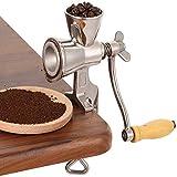 U/K Mano Gealing Grinder Mano caffè Grinder per Cereali caffè Chicco Pittura A Mandrino Mandrino Macina Macina Mohn Shred Mill caffè Grinder NUSS Grinder (Color : Silver)