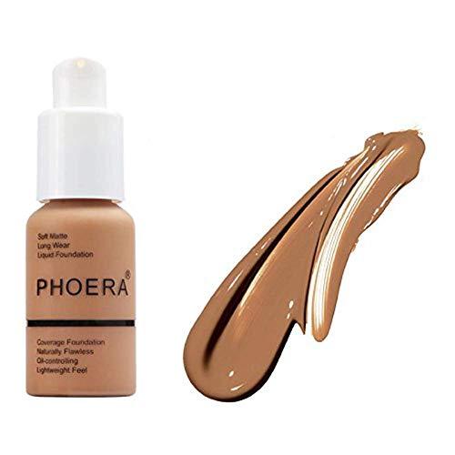 Phoera Foundation 107 Natural Moisturizing Highlighting Matte Oil Control...