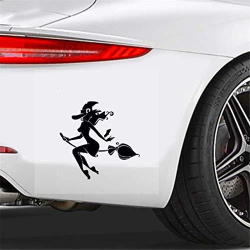 De Auto Aufkleber Cartoon Auto Aufkleber Fliegen Sexy Hexe Mädchen Zubehör Vinyl Aufkleber für Lada Priora Honda Fit Prius Suzuki Kia, 14 cm * 13 cm