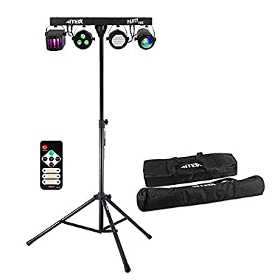 Max Party Bar Light PAR Derby Strobe Disco Stage LED Lighting with Stand & Bags