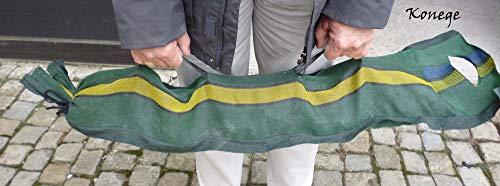 Silosäcke 20 Stück, 25cm x 100cm, mit Tragegriffen und Zurrband