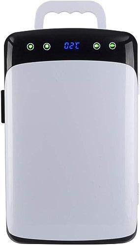 Réfrigérateur de voiture Capacité de 12 litres  Double refroidissement thermoélectrique personnel réchauffant le refroidisseur électrique portatif refroidisseur   réchauffeur de nourriture, prise de D