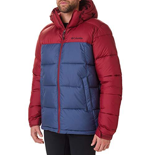 Columbia Pike Lake Hooded Jacket, Giacca Isolata con Cappuccio Uomo, Rosso (Dark Mountain Jasper), S