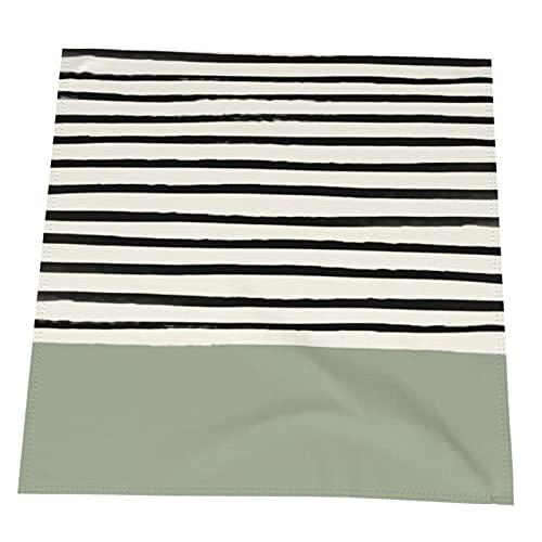 Set di tovaglioli di stoffa a righe verde salvia, 15,7 x 50,8 cm