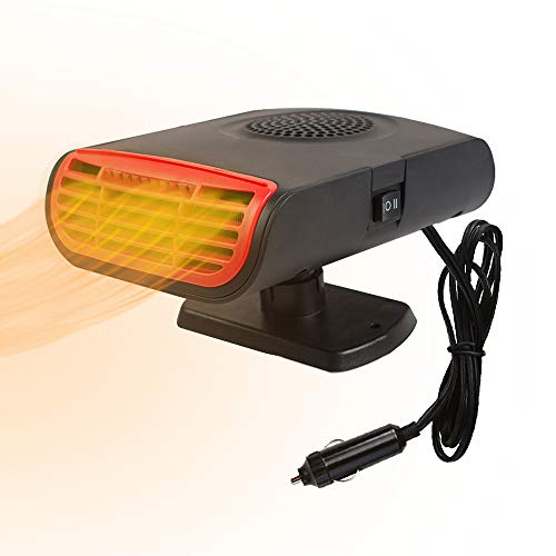 Funwill Car Heater, 3 in 1 Portable Windshield Car Heater with Heating & Cooling & Air Purify Function, Electric Fan Heater Heating Windshield Defroster Demister, 12V 150W