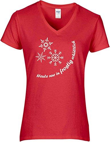 Elegante camiseta de invierno para mujer, con texto en alemán