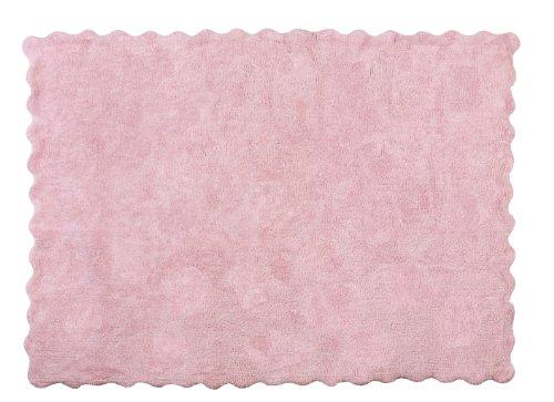 Aratextil Lisa Alfombra Infantil, Algodón, Rosa, 120 x 160 cm