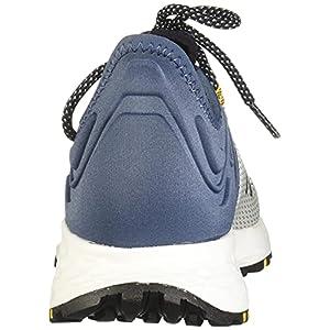 New Balance Men's Fresh Foam Roav Trail V1 Running Shoe, White/Stone Blue, 12