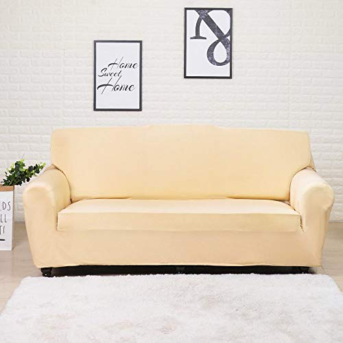 ASCV Fundas Lisas de patrón sólido Funda de sofá Fundas de sofá elásticas para Sala de Estar Funda de sofá Toalla de sofá Silla Funda de sofá A2 1 Plaza