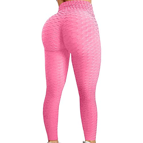 757 Leggings Fitness Donna Yoga Sportivi Leggins Palestra Vita Alta Elastico Allenamento Lungo Pantaloni Pantaloncini per Corsa Running Cycling Ginnastica