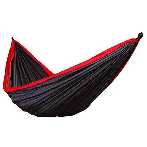 LLSS Double Nylon Hammock Outdoor Camping Ultralight Portable Nissi Parachute Cloth Color Matching Hammock