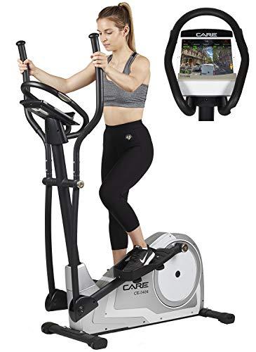 CARE FITNESS - CE-5484 - Vélo Elliptiques Appartement - Fitness - 23 Programmes et Bluetooth | 16 Résistances Motorisées | Roue d'Inertie 18 Kg