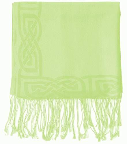 Patrick Francis Moss Green Silk & Wool Pashmina Scarf