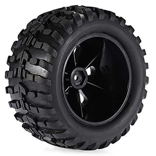 UJETML (H) Neumáticos RC Crawler Surpase 4pcs 120mm 0 Rueda de neumáticos 1/10 Llantas de Coche Llantas Ruedas Buggy para RC Crawler SCX10 90046 0 Neumáticos RC Slash 4x4 Neumáticos (Color : 4PCS)