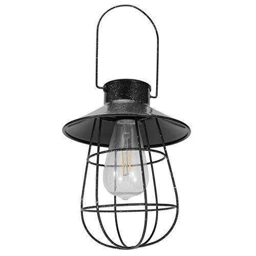 Emoshayoga Linterna Solar de Hierro 18x18cm Luz Colgante Solar LED Decoración Ligera para el hogar
