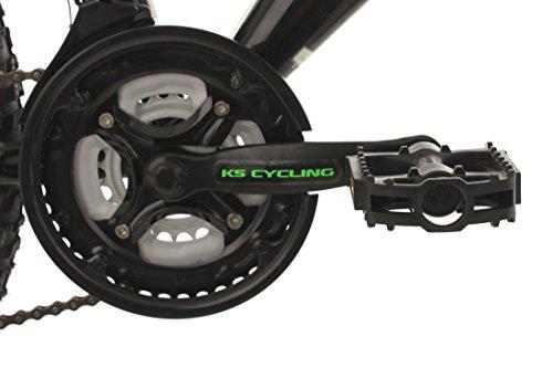 "KS Cycling Kinder Jugendfahrrad Mountainbike Fully 24"" Bliss schwarz-grün RH 38 cm Fahrrad, 24 - 2"