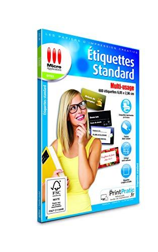 Étiquettes Autocollantes Standard - 600 Étiquettes...