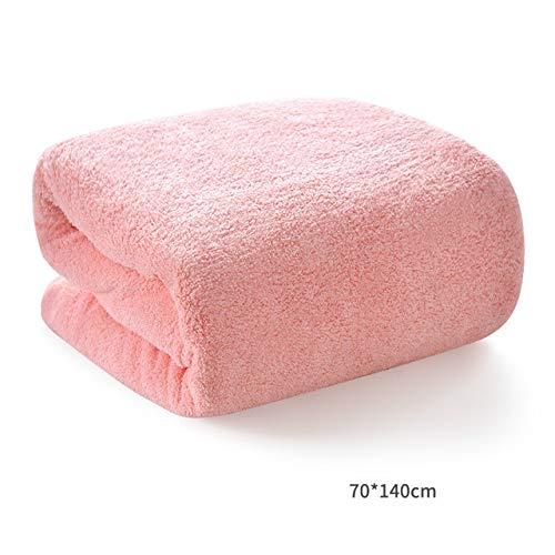 IAMZHL Nouveau 2020 Serviettes de Bain pour Adultes 1 PC/Ensemble Serviette de Plage d'été en Microfibre Gym Spa Natation Sport Serviette de Corps de Salle de Bain 70x140 cm Grand-Light Pink