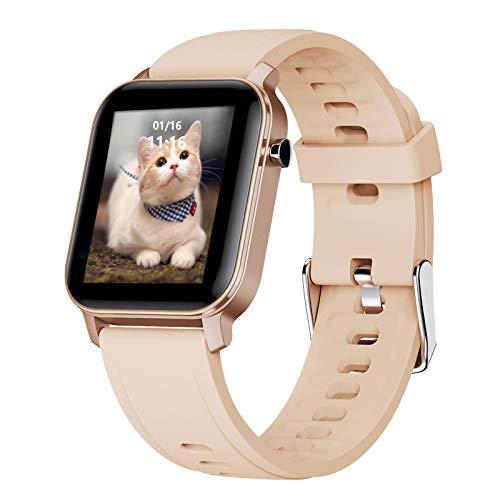 """LIGE Smart Watch,1,4""""Touchscreen Fitness-Tracker mit Herzfrequenzmesser/Blutsauerstoff/Atem,IP68 Wasserdicht Fitness Armbanduhr Sport Schrittzähler Smart Watch für Damen Herren Herren für Android IOS"""