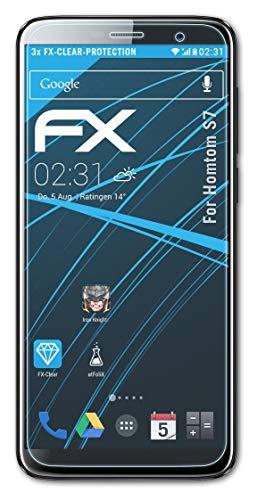 atFolix Schutzfolie kompatibel mit Homtom S7 Folie, ultraklare FX Bildschirmschutzfolie (3X)