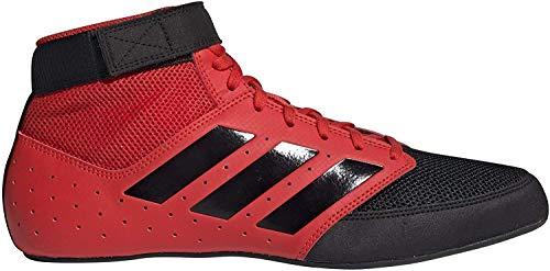 adidas Men's Mat Hog 2.0 Wrestling Shoe, Red/Black/White, 8.5