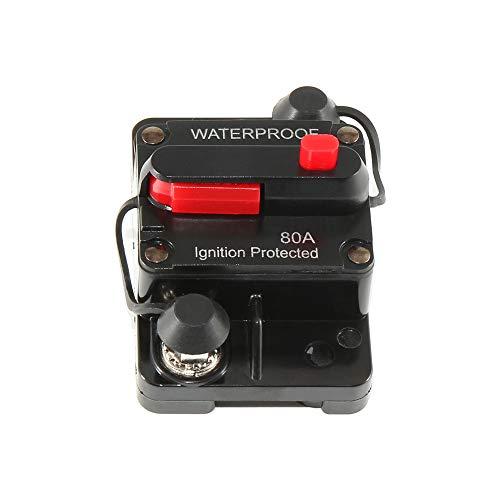 RED WOLF 80A 12-48V Sicherungshalter Reset Schalter wasserdicht kfz Leistungsschalter für Auto Boot Audio