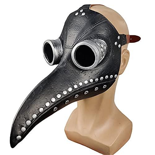 Disfraz de Halloween realista de la plaga del doctor  Disfraz de Halloween Cosplay nariz larga pjaro mdico peste cara cubierta largo pico para Halloween Cosplay fiesta