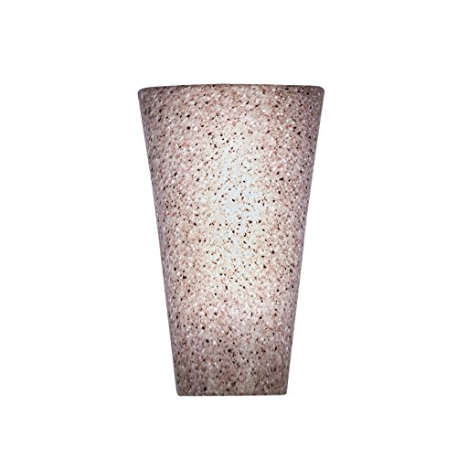 It's Exciting Lighting IEL-2471G Battery Powered Granite Conical Indoor And Outdoor LED Wall Sconce With 5 Long-Lasting LED Lights And Timer