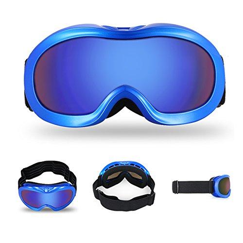ZZKK Children's ski bril dubbele anti-mist jongens meisjes grote bolvormige bijziendheid bergbeklimmen outdoor bril skibril