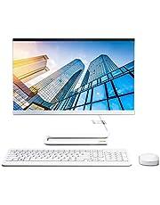 "Lenovo IdeaCentre AIO 3 21.5"" FHD All-in-One Desktop (AMD Athlon Silver 3050U –2.3GHz Base Speed/8GB/1TB HDD/Win10/Office/AMD Radeon GFX/HD 720p Camera/Wireless Keyboard & Mouse) FoggyWhite F0EX0081IN"