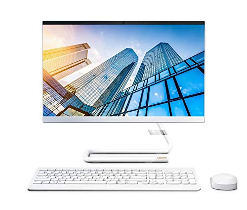 Lenovo IdeaCentre AIO 3 21.5-inch Full HD All in One Desktop (AMD Ryzen 3/8GB/1TB HDD/Windows 10/MS Office 2019/Integrated AMD Radeon Graphics), Foggy White (F0EX0082IN)