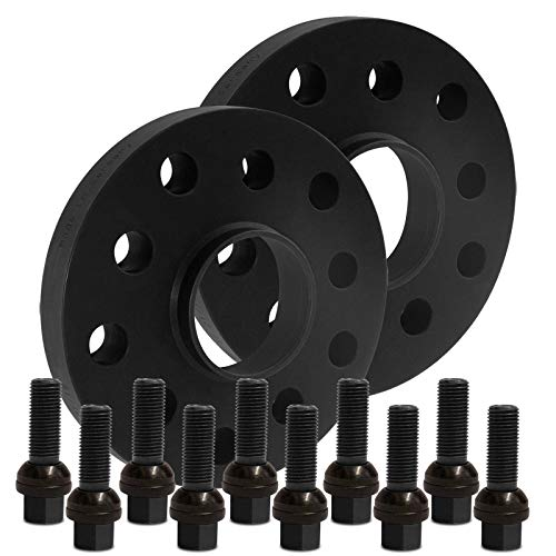 BlackLine Spurverbreiterung 30mm (15mm) mit Schrauben schwarz 5x112 66,5mm - 12435W_7_XV1415KU45B
