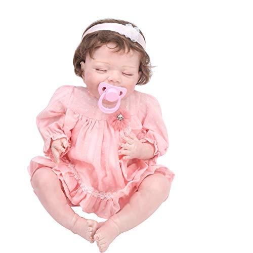 Bonecos Renascidos, Bonecos de Dormir Fofos, Bonecas Recém-nascidas Realistas Portáteis de 20 Polegadas Bonecos Bonecos da Vida Real com Roupas e Acessórios de Brinquedo Presente de Aniversário para a