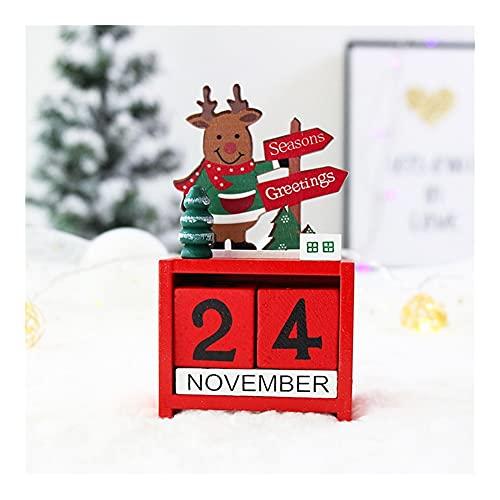 JJH Pequeño Calendario de adviento 2021, Oficina Navidad Decoración de Escritorio Adornos de Escritorio, 25 días CALENDARIOS DE Abajo DE Navidad NIÑOS NIÑOS NIÑOS Regalo DE Xmas (Color : Elk)