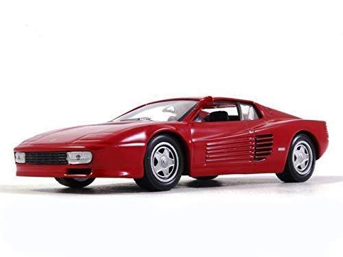 Ferrari Testarossa Red Color 1:43 Scale Diecast Model Sports Car 1984 Year