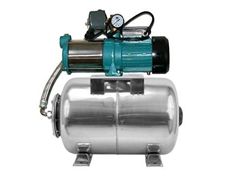 Pompe d'arrosage POMPE DE JARDIN pour puits 1100 W, 230V, 95l/min + ballon surpresseur INOX 80 L