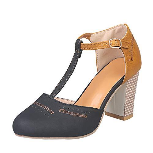 Vertvie dames sandalen Closed Toe Gesloten sandalen riemjessandalen met hak hol ademend maat 34-43