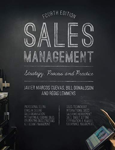 Sales Management: Strategy, Process and Practice