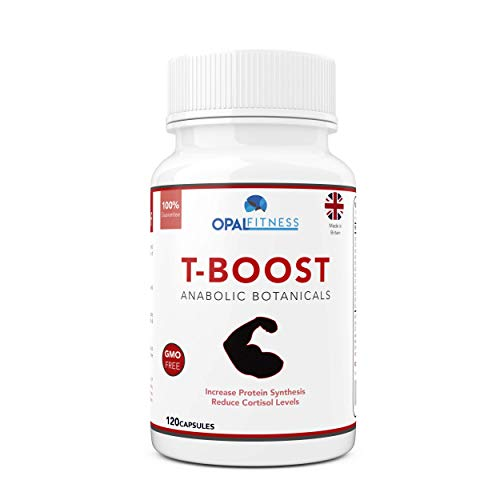 Testosterone And Libido Booster For Men By Opal Fitness - Anabolic Male Enhancing Capsules With Maca Root, Gingko Biloba, Korean Ginseng - Reduce Stress & Cortisol - Produced In The UK - 120 Capsules