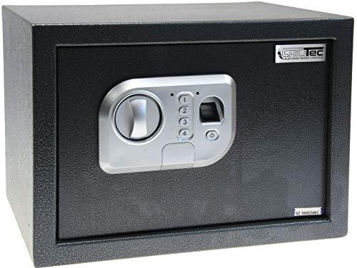 Tresor Safe für Hotel Büro 25x35x25cm mit Fingerabdruck-Sensor, zur Sicherung von Tablet, Wertgegenständen
