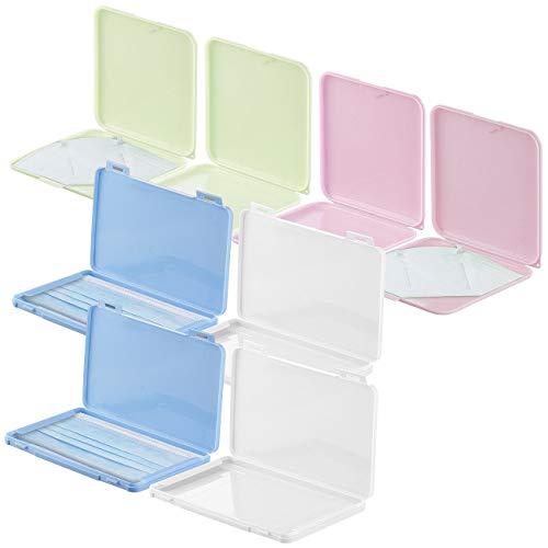 PEARL Maskenetui: 8er-Set Masken-Aufbewahrungs-Etuis, staubdicht und hygienisch, bunt (Masken-Aufbewahrungsboxen)