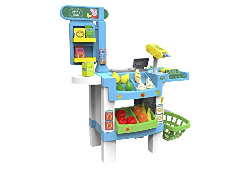 Chicos Supermercado Peppa Pig, Tienda de Juguete con Sonido y con 38 Accesorios, a Partir de 3 Años, Medidas: 73.5 x 50 x 91.1 cm (84119)