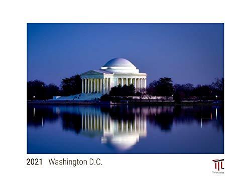 Washington D.C. 2021 - White Edition - Timokrates Kalender, Wandkalender, Bildkalender - DIN A3 (42 x 30 cm)