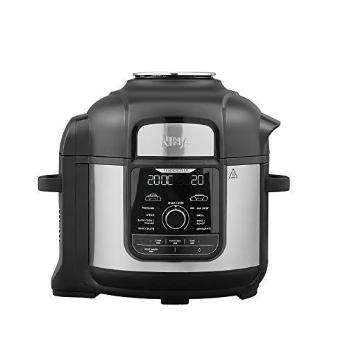 Ninja Foodi Max Multi-Cooker [OP500UK] Electric Pressure Cooker and Air Fryer, Brushed Steel and Black