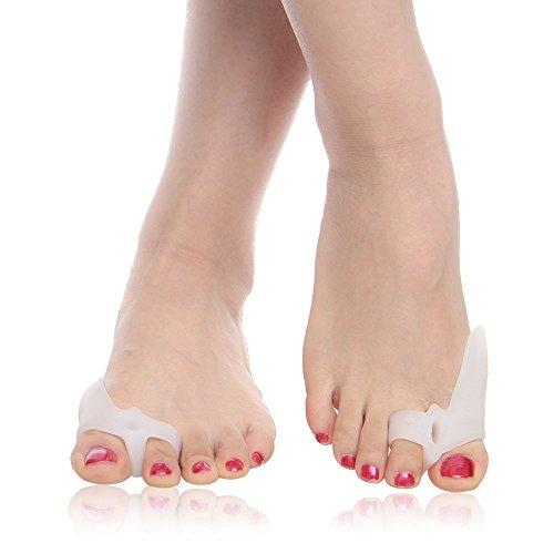 Toe Glow 外反母趾 サポーター 医療用シリコン フリーサイズ 男女適用 (2個入り)