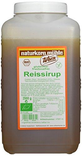 Werz Reissirup fructosefrei glutenfrei, 1er Pack (1 x 2.5 kg Flasche) - Bio