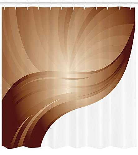 taquxinlaowan Schokoladen-Duschvorhang-Spiralstreifen-Druck für Badezimmer
