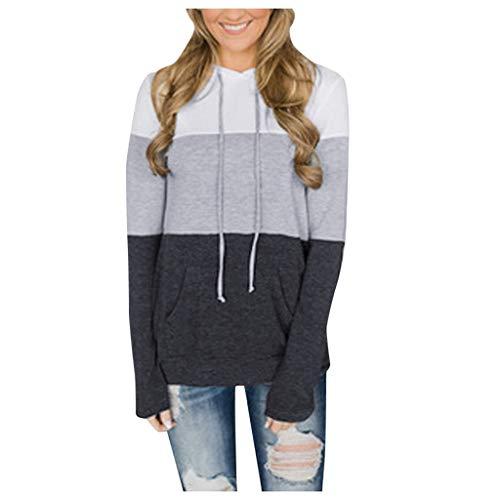 Damen Sweatershirt Groß Großer, Damenmode Loose Lace Cap Socks Pocket Sweater, Bedrucktes Sweatshirt