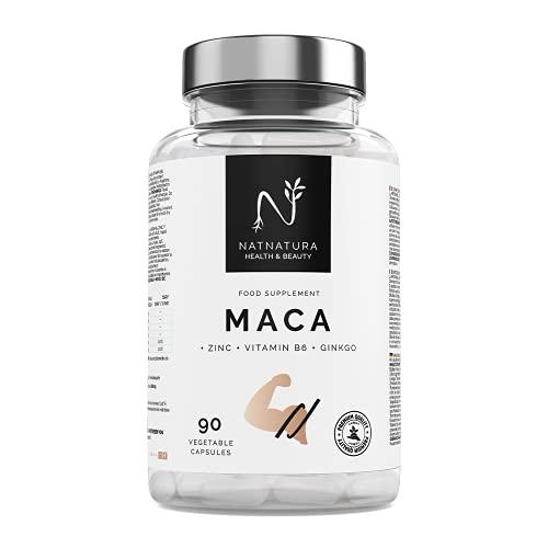 Maca. Máxima concentración de maca negra (25:1) aumenta tu energía y vitalidad. Potenciador muscular, reduce la fatiga y aumenta los niveles de testosterona. 90 cápsulas