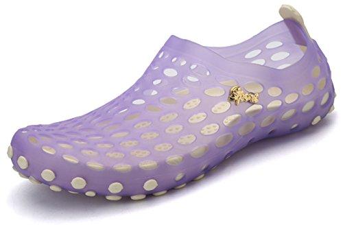 katliu Scarpe da Scoglio Scarpette da Mare Bagno Spiaggia Surf Water Shoes Donna Uomini Unisex,Viola,36 EU